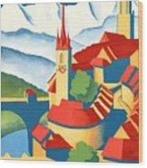 Berne Switzerland - Restored Wood Print