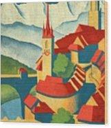 Berne Switzerland - Vintagelized Wood Print