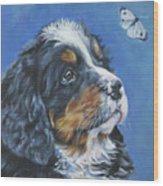 Bernese Mountain Dog Pup Wood Print