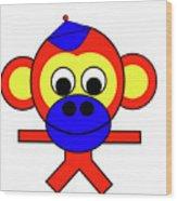 Bernhard the Monkey Wood Print