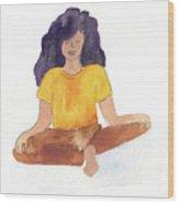 Berni Meditating Wood Print