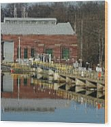 Berrien Springs Powerhouse Wood Print