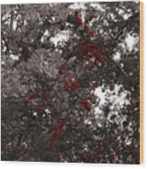 Berry Trees Wood Print