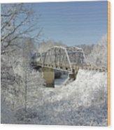 Bert White Bridge Wood Print