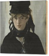 Berthe Morisot With A Bouquet Of Violets Wood Print