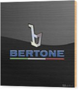 Bertone - 3 D Badge On Black Wood Print