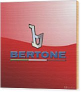 Bertone 3 D Badge On Red Wood Print