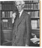 Bertrand Russell Wood Print