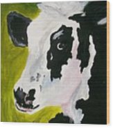 Bessy The Cow Wood Print by Leo Gordon