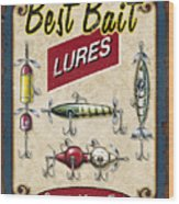 Best Bait Lures Wood Print