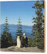 Best Buddies At Lake Tahoe Wood Print