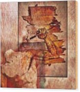 Best Defense Is Attack Wood Print