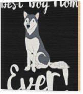 Bestdogmomever Husky Wood Print