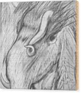 Bestia De Cuerno Espiralado. Wood Print
