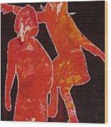 Besties - Dancing Wood Print