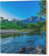 Betari River Wood Print