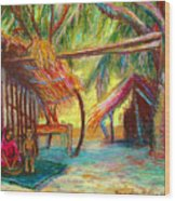 Betawar Village Life Wood Print