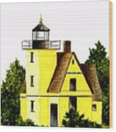 Bete Gris Lighthouse Wood Print