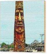 Bethany Beach Totem Wood Print