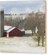 Bethel Barn Wood Print by Tom Romeo
