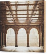 Bethesda Terrace In Color Wood Print