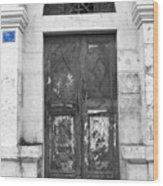 Bethlehem - Aged Door Wood Print