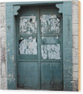 Bethlehem - Blue Door Wood Print
