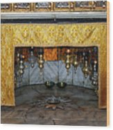 Bethlehem - Grotto Silver Star Wood Print