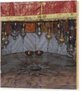 Bethlehem - Nativity Church - Silver Star Wood Print