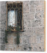Bethlehem - Nativity Church Window Wood Print