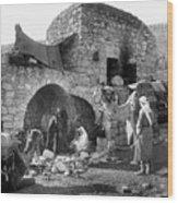 Bethlehem - Nativity Scene Year 1900 Wood Print