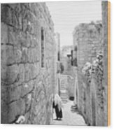 Bethlehem - Old Woman Walking 1933 Wood Print