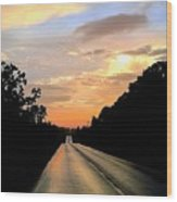 Bethlehem Road Sunset Wood Print