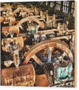 Bethlehem Steel Blower House Wood Print