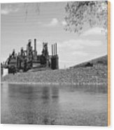 Bethlehem Steel Wood Print by Michael Dorn
