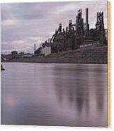 Bethlehem Steel Sunset Wood Print