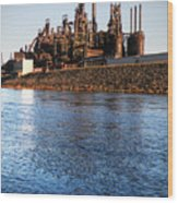 Bethlehem Steel Water's Edge Wood Print