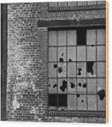 Bethlehem Steel Window Wood Print