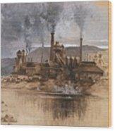 Bethlehem Steel Works In May 1881 Wood Print