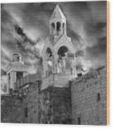 Bethlehem With Cloudy Sky Wood Print