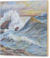 Beth's Sea Wood Print