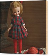 Betsy In Plaid Wood Print