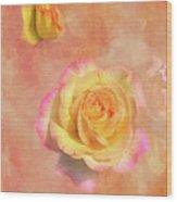Betsy's Roses Wood Print