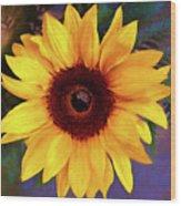 Betsy's Sunflower Wood Print
