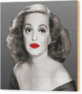 Bette Davis Draw Wood Print