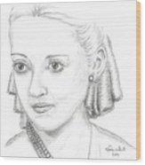 Bette Davis Wood Print