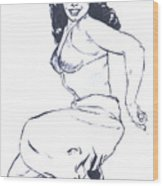 Bettie Page Harem Girl Wood Print