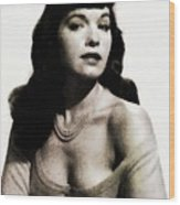 Bettie Page, Pinup Model Wood Print