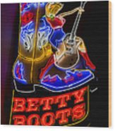 Betty Boots Wood Print