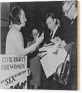 Betty Friedan, President Wood Print